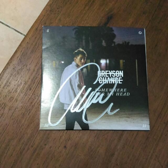 Somewhere Over My Head EP - Greyson Chance with signature.