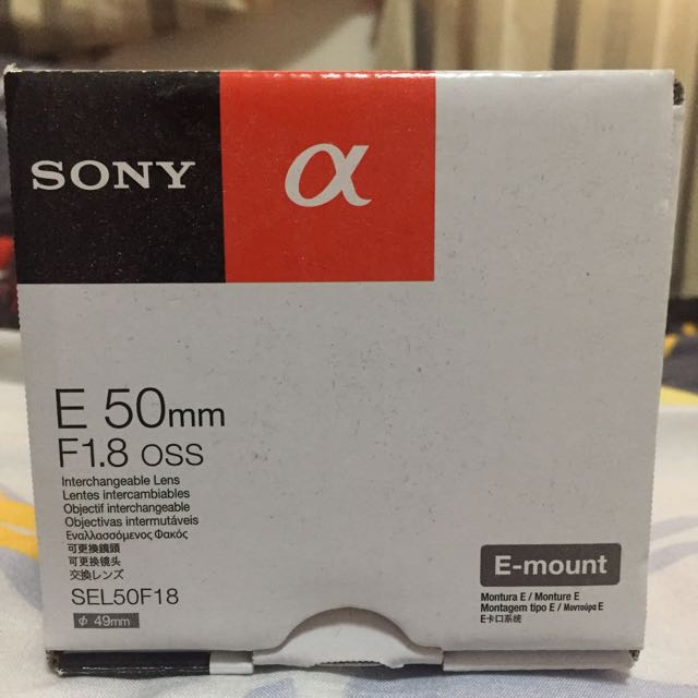 SONY E 50mm F1.8 OSS E-mount