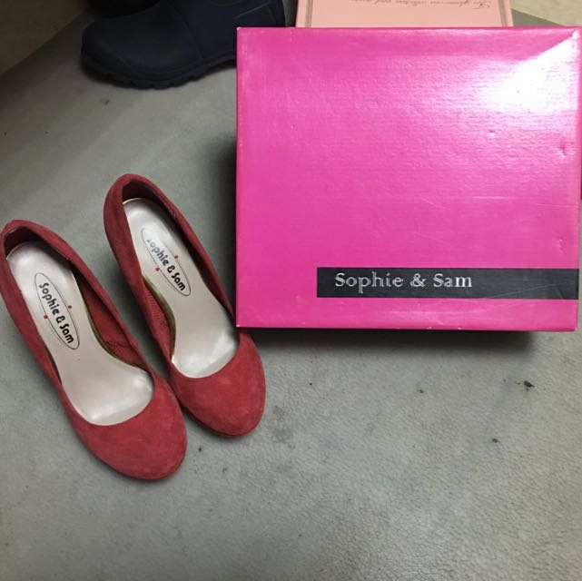 Sophie&Sam 麂皮正紅高跟鞋 35