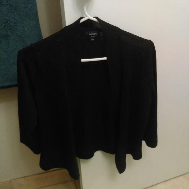 Sparkly Black Quarter Sleve Dress Shirt