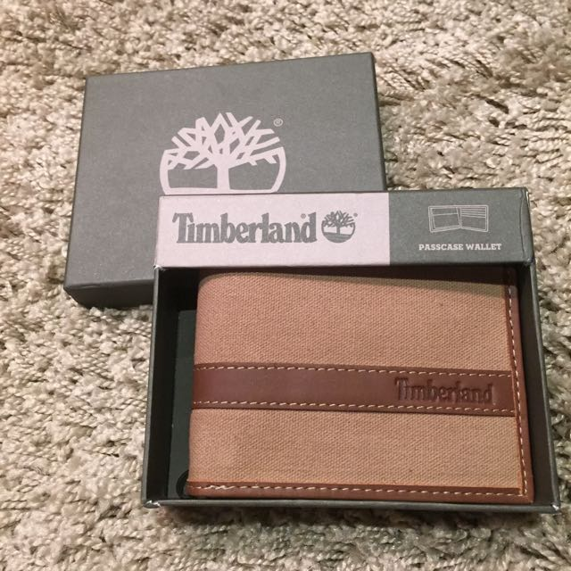 Timberland 真皮 皮夾 經典卡其色