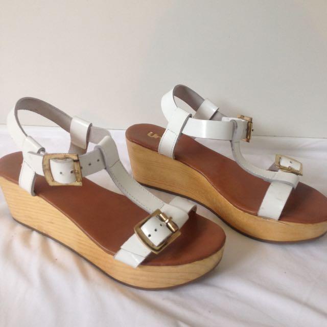 Urge Footwear 'Lauren' White Sandal Size 38
