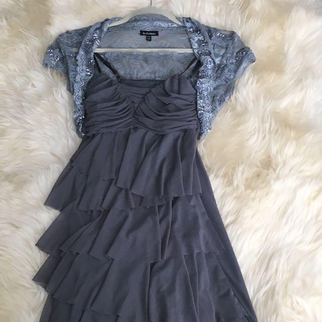 Vera Moda Dress Le Chateau Shrug