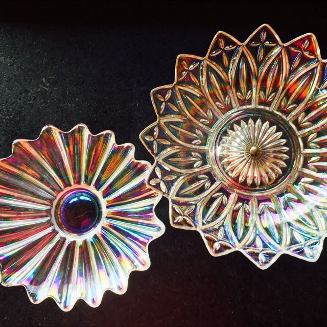 Vintage Iridescent Glass Dishes