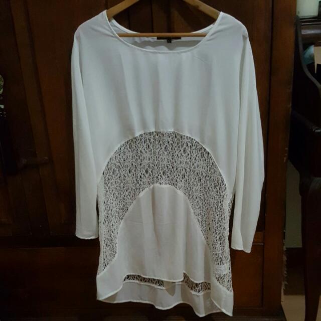 White Cut Out Mini Dress