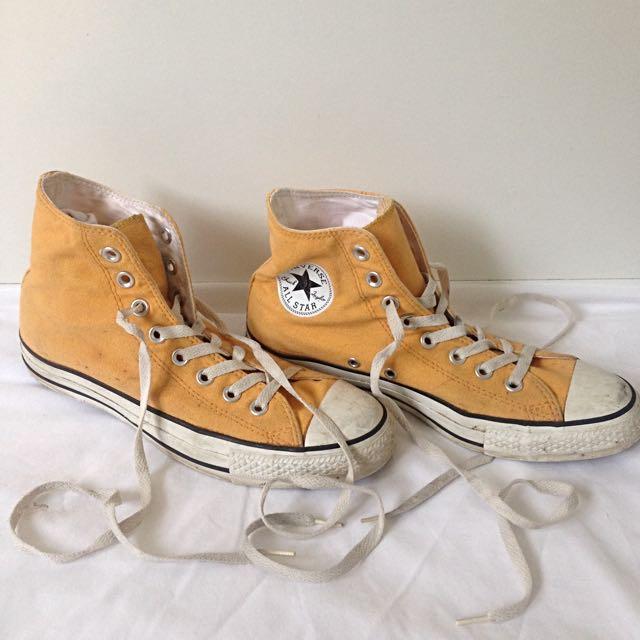 21a553fd24f3 Yellow Mustard Converse All Star High Top Size 7