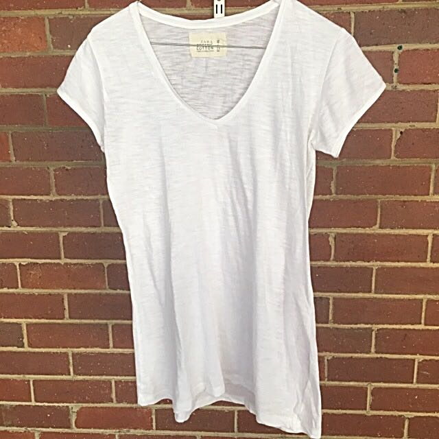 ZARA White Basic T-shirt