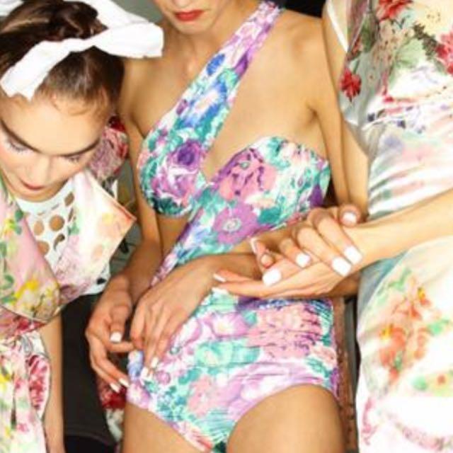 Zimmermann clique Floating Drape Swimsuit