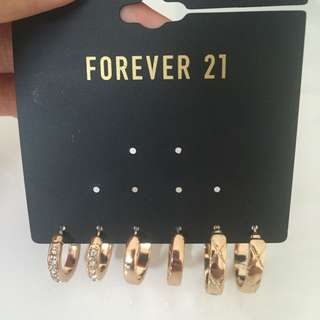 New F21 Gold Earrings