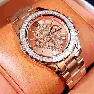 Jam Tangan Wanita Merk Michael Kors Diamond Ori Bm Type : MK 5747