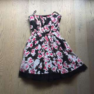 Bebe Floral Strapless Dress
