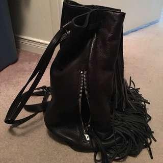 Kenneth Cole Leather Fringe Bag