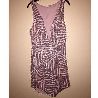 Copper Sequinned Dress