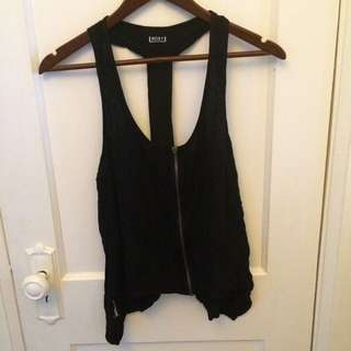 Black Zipper Roxy Tank