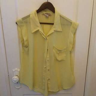 Yellow Sheer Top