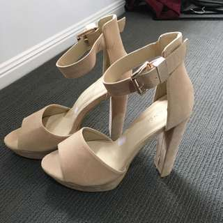 Gold And Brown Heels