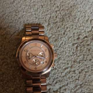 WOMENS ROSEGOLD BOYFRIEND WATCH