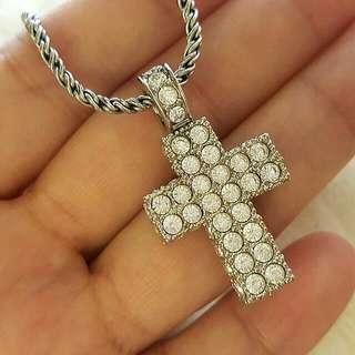 SWAROVSKI 水晶十字架項鍊