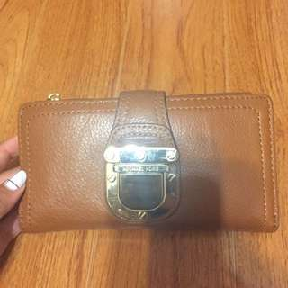 Authentic Michael Kors Buckle Purse In Tan