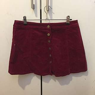 Subtitled Button-front Size 10 Skirt