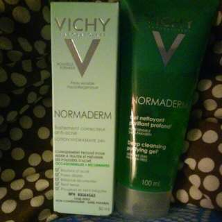 Vichy Normaderm Purifying Cleanser And Anti- Acne Treatment Moisturizer