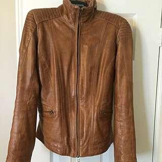 Medium Tan Leather Jacket