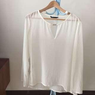 Preloved Women White Top