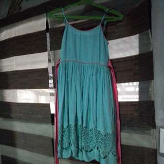 It's My Daughter's Pre Loved Little Miss Turquoise Dress Size 12 It Fits To Little Girls Ages 10-12 Years Old.. Bought It At SM Aura Used 3x Only