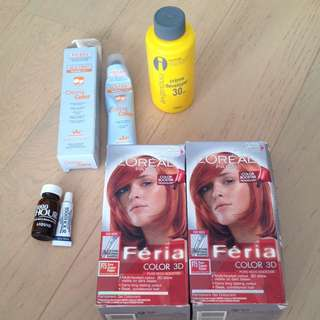 New🍁Loreal Feria and Hair dye Bundle