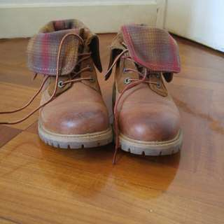 英國購入 timberland Boots 啡色皮靴
