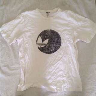 Adidas original classic sports shirt tee white authentic size XL Extra Large
