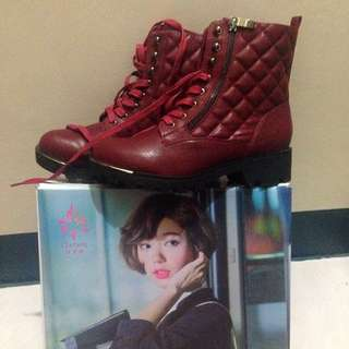 DAPHNE格紋中筒靴 #五百元好女鞋
