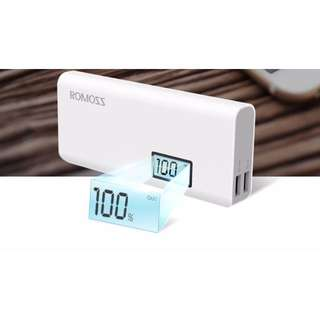 BN Sealed 10000MAH LED Battery Display ROMOSS Portable Charger