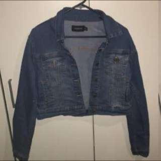 MINKPINK cropped Denim Jacket