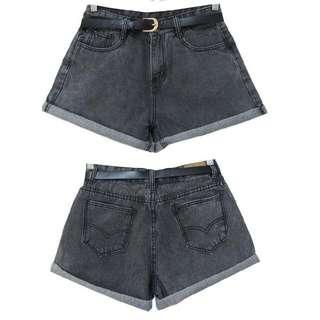 鐵灰牛仔褲