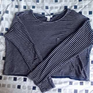 Stripes F21 Cropped Pullover