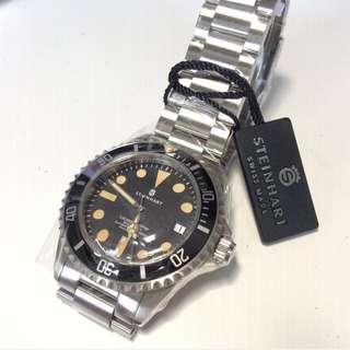 Steinhart LE Gnomon Edition Maxi Date Men Diver Swiss Made Watch