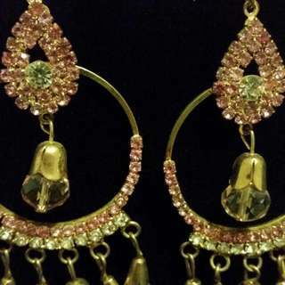 Pink Diamante Earring