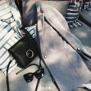 (待寄)(轉賣)復古圓環單肩包,斜側背,側背包