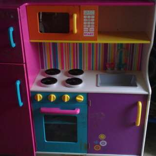 Kids Kitchen Comes With Toaster Blender And Bags Of Play Food