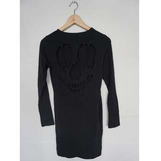 Skeleton Cut Out Back Halloween Mini Dress - Size 10