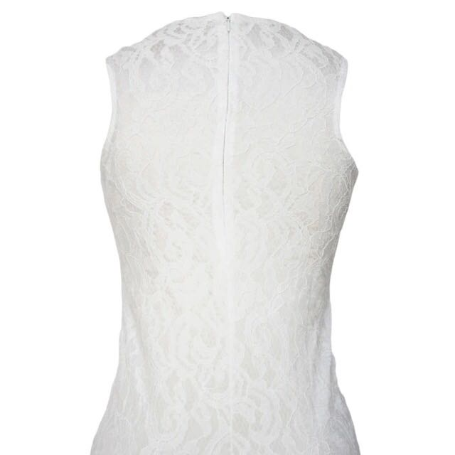 2016 Summer Neck White Lace Dress