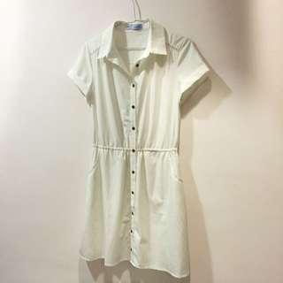 專櫃T-Parts🎀白色短袖洋裝/婚禮/約會