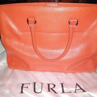 Authentic Furla Orange big handbag