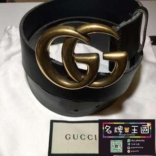 [全新] GUCCI 4cm Leather Belt [Size:95]