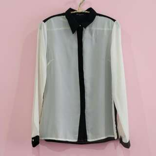 Colorbox black and white shirt
