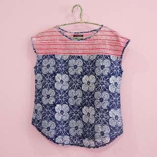 Sleeveless batik blouse