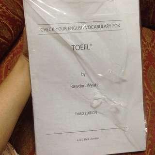 CHECK YOUR ENGLISH VOCAB FOR TOEFL BY RAWDON WYATT