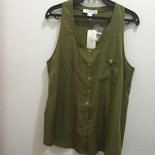 F21 Olive Green Sleeveless