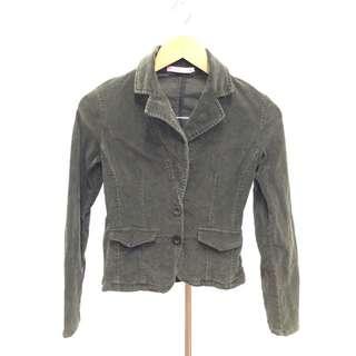 Corduroy-like Brown Jacket